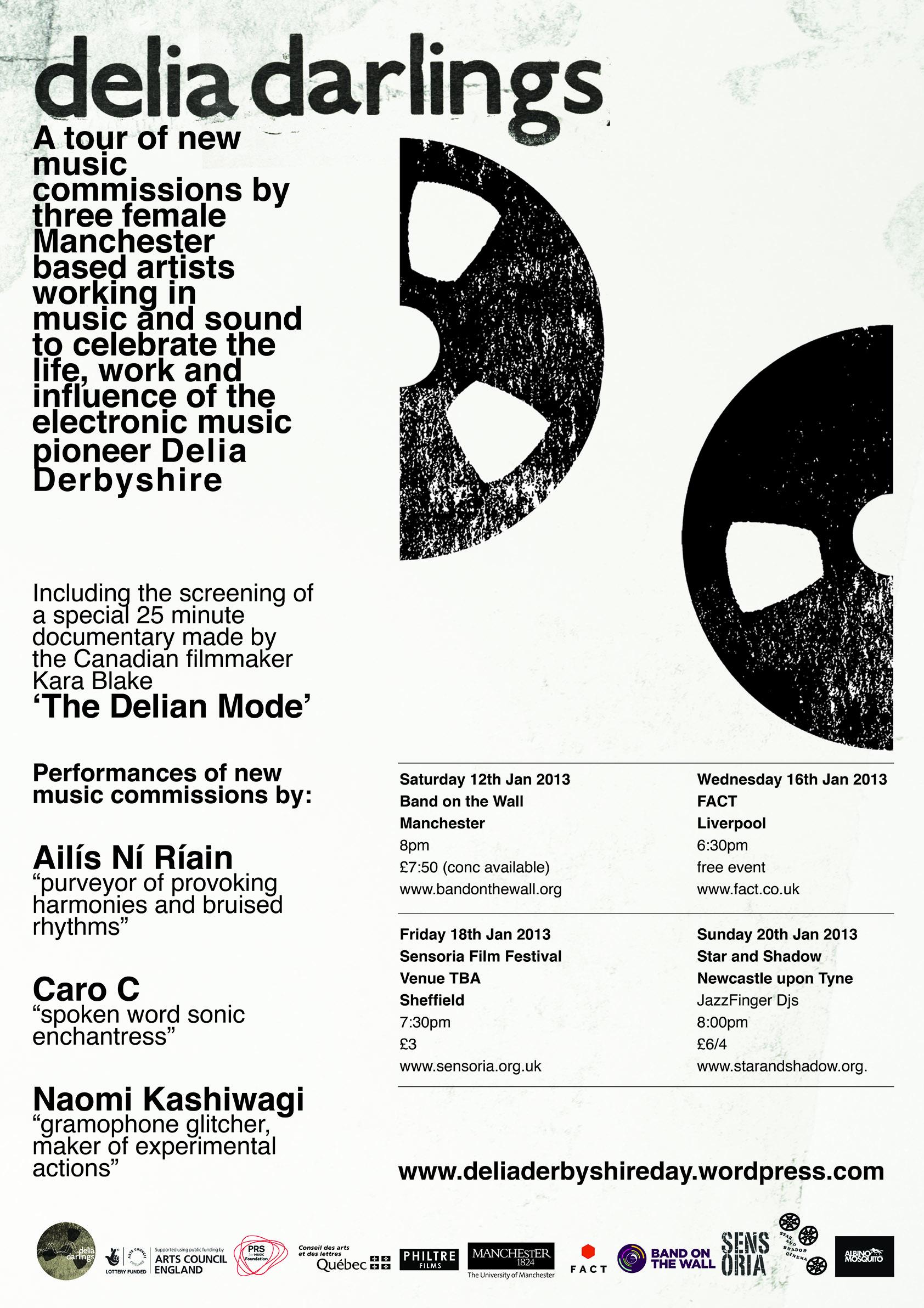 Delia Darlings Tour poster