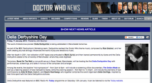 Dr Who News